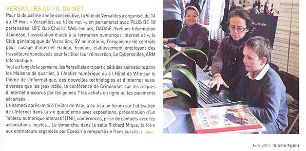 Versailles au fil du net
